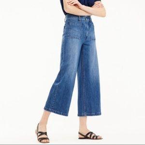 J. Crew Point Sur Wide Leg Crop Denim Jeans